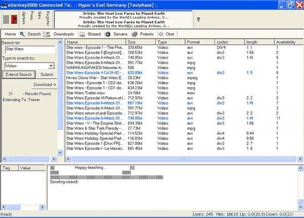 eDonkey2000 GUI Version 1.4.6