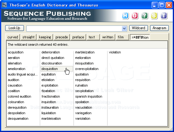 TheSage English Dictionary and Thesaurus para Windows